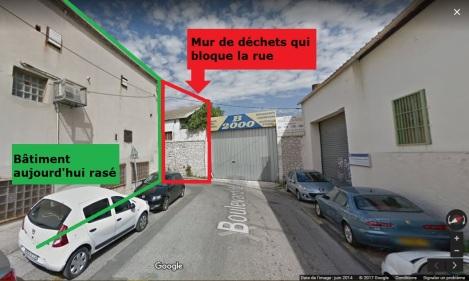 Boulevard de Vintimille bouché-Marseille-Déchets-Marseillais-Google Street View_2017_Cedric STANGHELLINI-DR