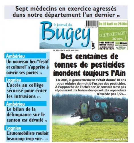 Une Le Journal du Bugey - 12 avril 2018.JPG